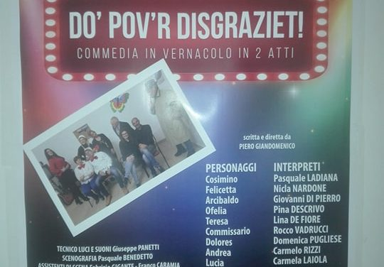 """A Castellaneta va in scena la commedia in vernacolo """"Do pov'r disgraziet!"""""""