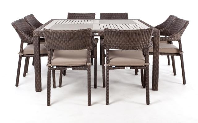 nico square patio dining table for 8