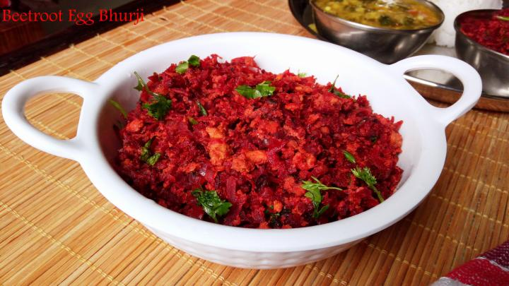 Beetroot Egg Bhurji