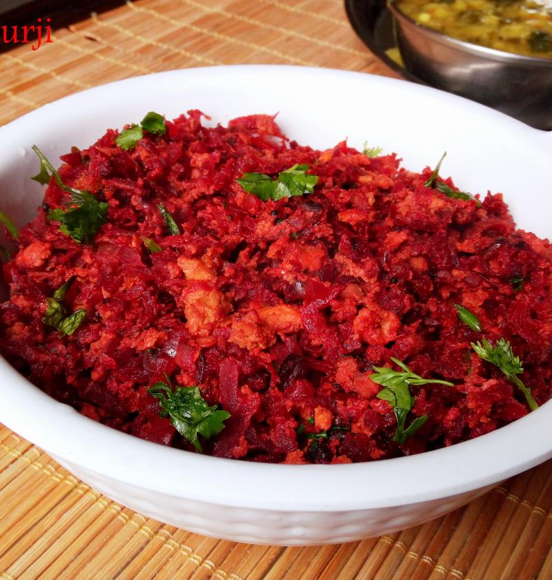 Beetroot Egg Bhurji | Scrambled Egg with Beetroot