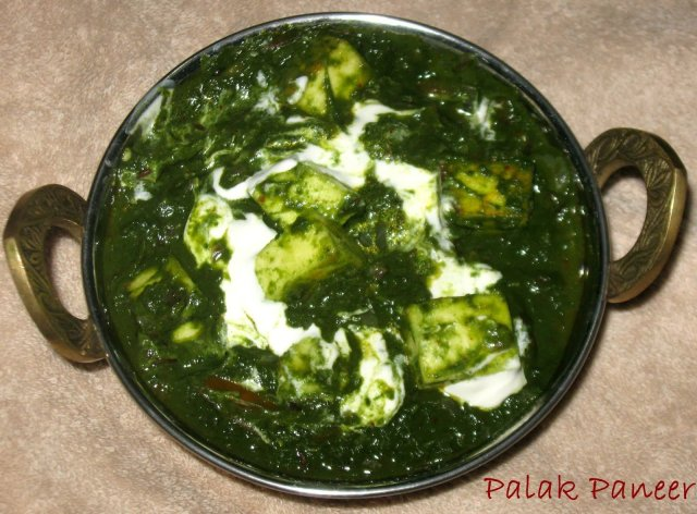 Palak Paneer|Spinach and Cottage Cheese Gravy