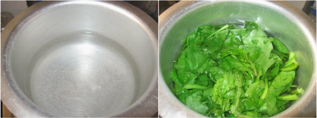 Aloo Palak / Potato with Spinach