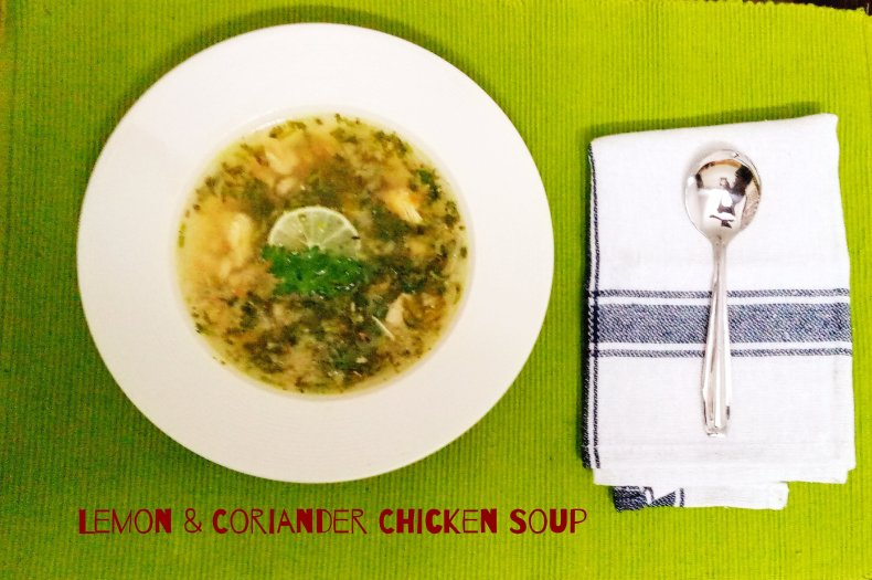 Lemon Coriander Chicken Soup