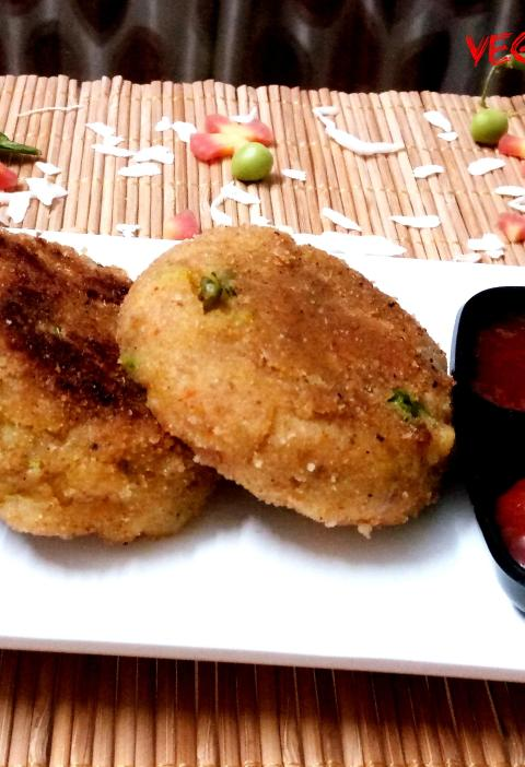 Vegetable Poha Cutlet