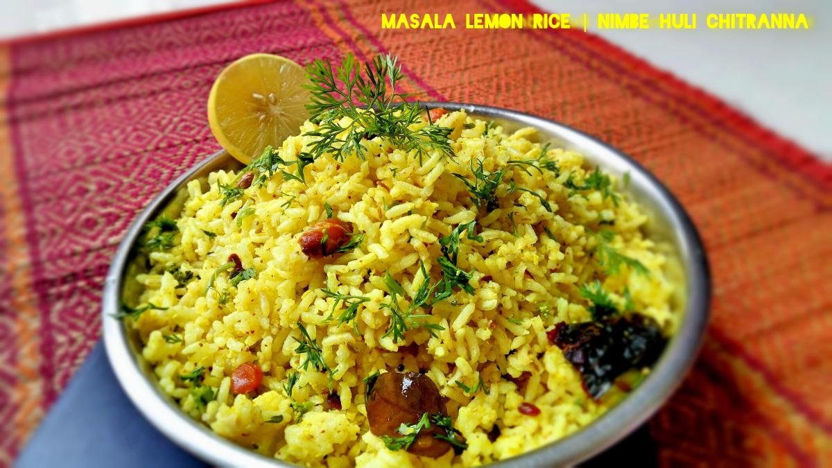 Masala Lemon Rice | Nimbehuli Chitranna Recipe