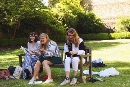 Carrie Gaunt (Emilia), Ellie Gauge (Director) and Kate Barton (Producer)