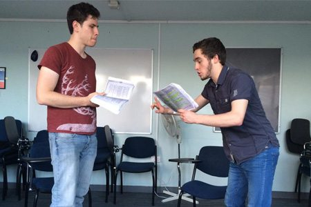 Lewis Picard (Milo Tindle) and Wilf Wort (Andrew Wyke)
