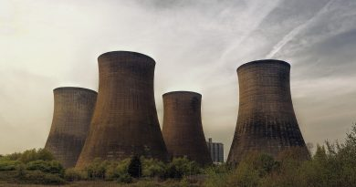 Image: Cooling towers of a nuclear power plant.