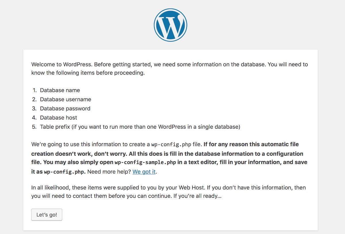 WordPress installation: Let's Go! |Palawan Digital