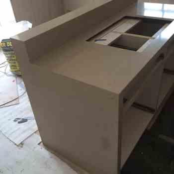 beige quartz worktops