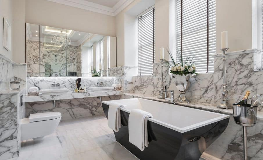 Marble bathroom, marble bathroom worktops, Palazzo Stone