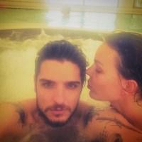 Nina Moric e Luigi Mario Favoloso in sauna... ad agosto!