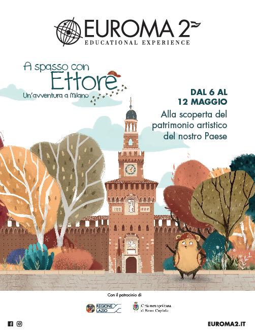 """EUROMA2 presenta: """"Ettore il riccio viaggiatore"""", alla scoperta  del Patrimonio Artistico del nostro Paese"""