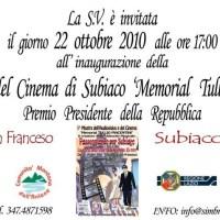 ALL'INTERNO DELLA MOSTRA DEL CINEMA DI SUBIACO, IL MEMORIAL TULLIO PIACENTINI