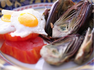 Fried_Quail_Eggs_with_Baby_Artichokes