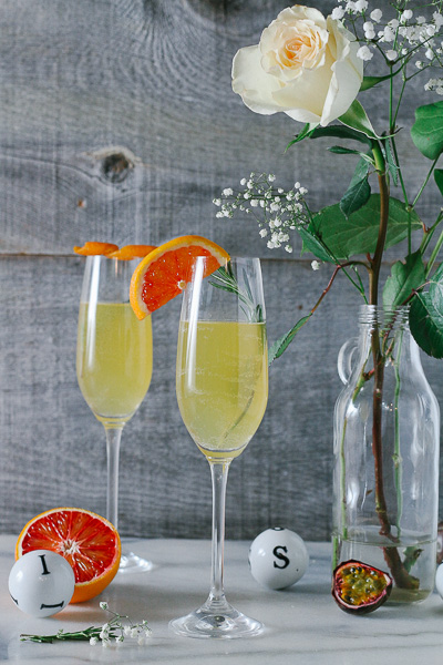 Just in time for Valentine's Day; wonderfully citrusy, festive, and easy-to-make Blood Orange Passionfruit Champagne Sangria!