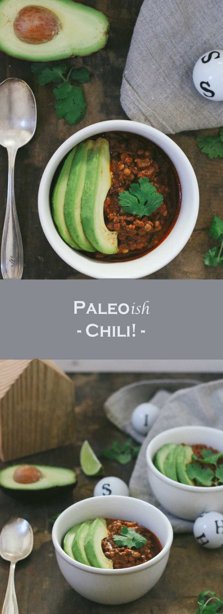Deliciously warm and comforting Paleo-ish Chili that is easy-to-make! Perfect for the darkest and dreariest days of winter!
