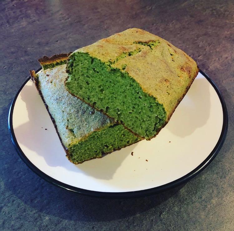 Gâteau paléo fitness au cresson