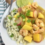 Mango Shrimp and Cilantro-Lime Cauliflower Rice