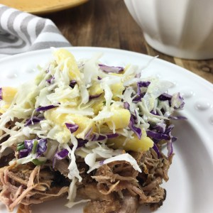 slow cooker pulled pork with pineapple salsa