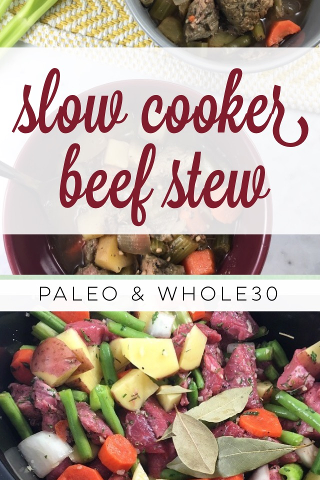Paleo and Whole30 Slow Cooker Beef Stew