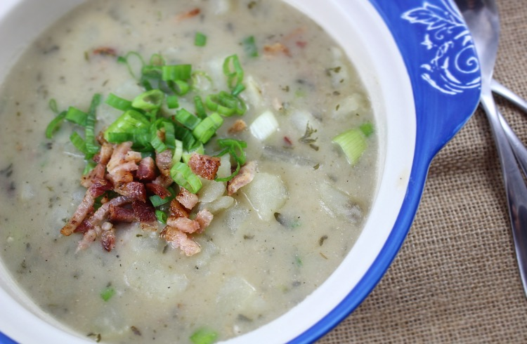 paleo and whole30 potato and bacon chowder