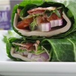 Turkey Bacon Caesar Wraps: Easy Paleo and Whole30 Lunch With Blanching Instructions!