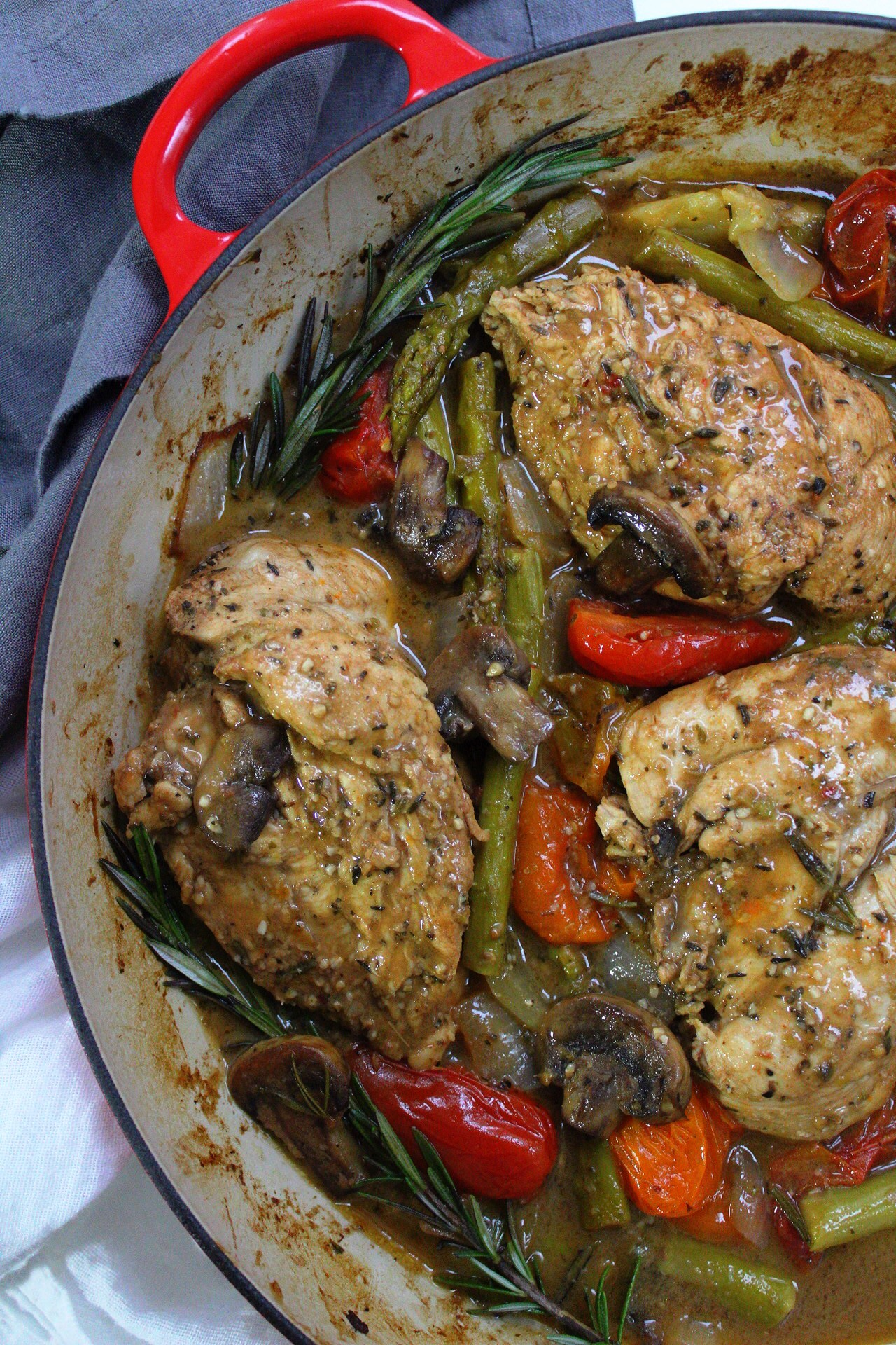 One Pan Mustard Chicken and Veggies: 30 Minutes, Whole30 & Low-Carb