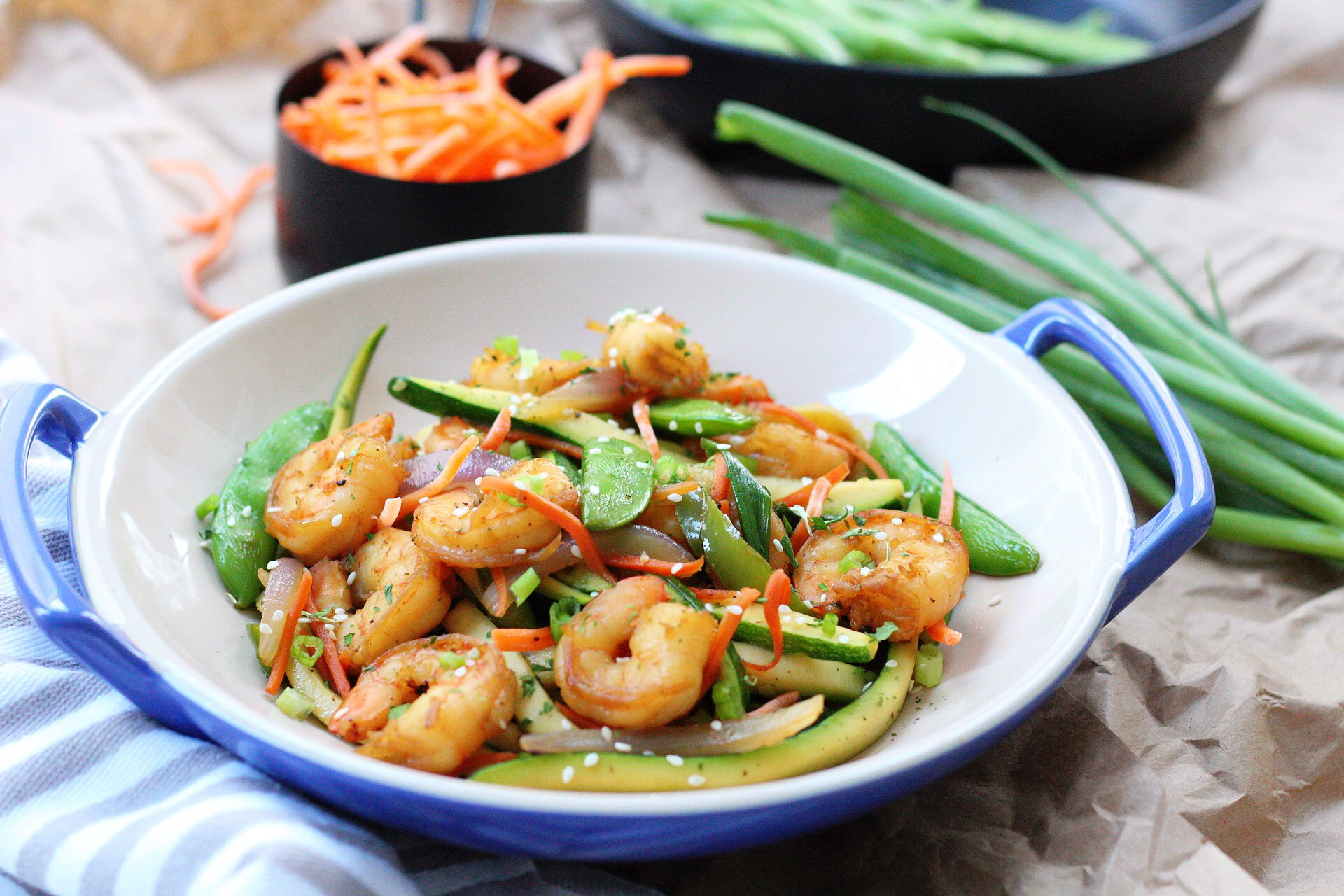 Shrimp Stir Fry: Paleo, Whole30 & Low Carb + Tips for Cooking With Gelatin