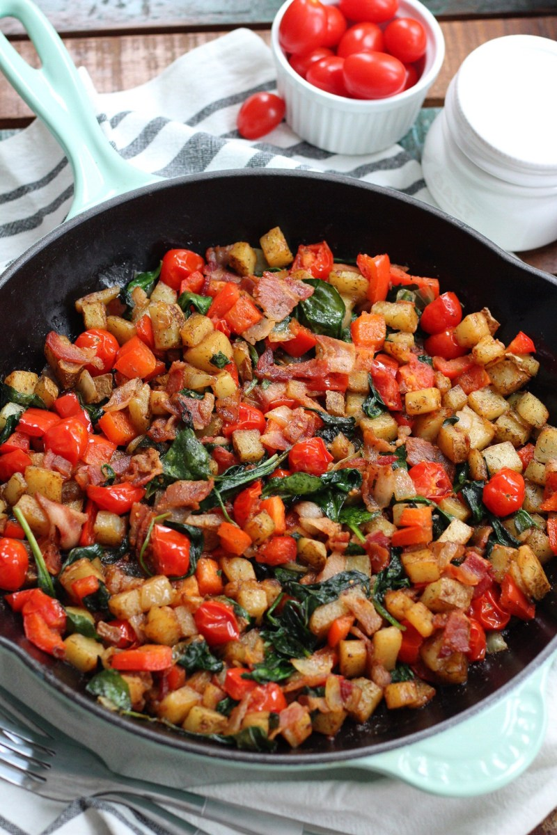 Bacon and Veggie Breakfast Skillet: Paleo, Whole30, Easy Meal Prep