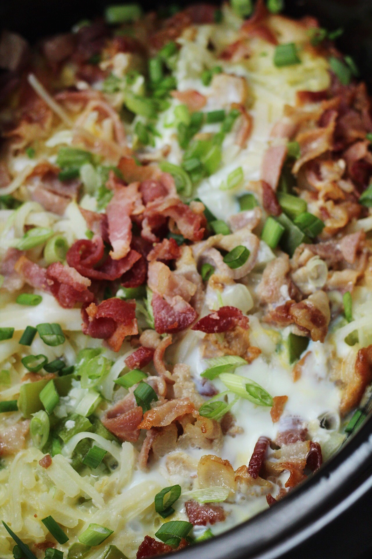 Slow Cooker Bacon, Egg & Hash Brown Bake: Easy Hands-Free Breakfast
