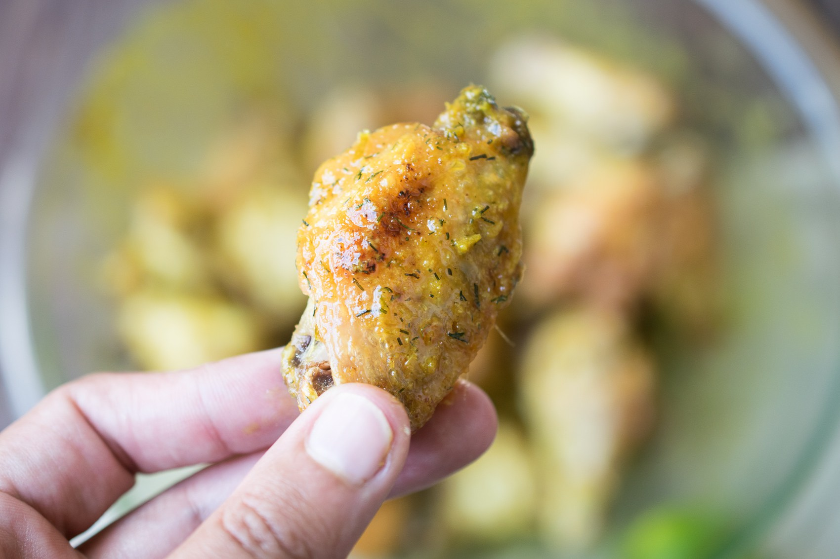 crispy ginger lime baked wings