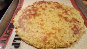 Plantain Pizza Crust baked