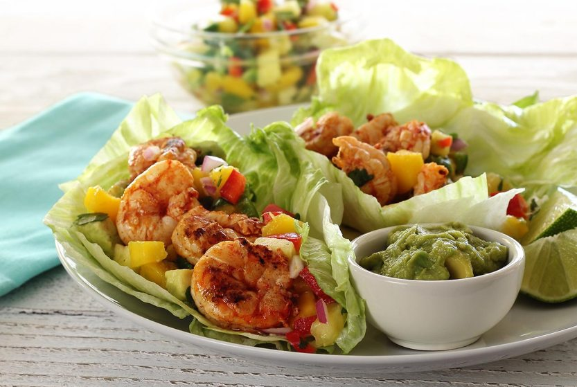 easy paleo recipe for shrimp and salsa wraps