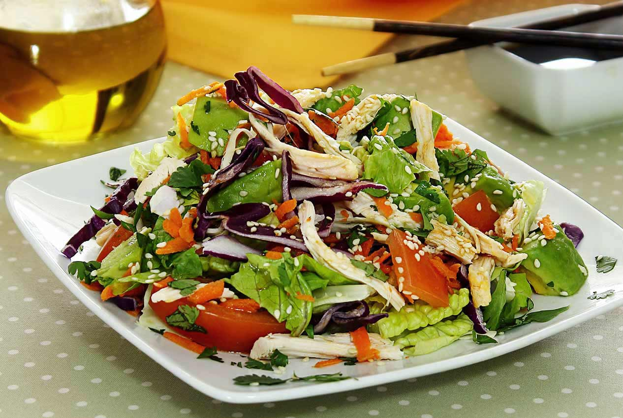 easy paleo recipe chicken salad with sesame-lime dressing