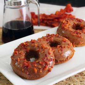 Glazed Maple Bacon Paleo Donuts