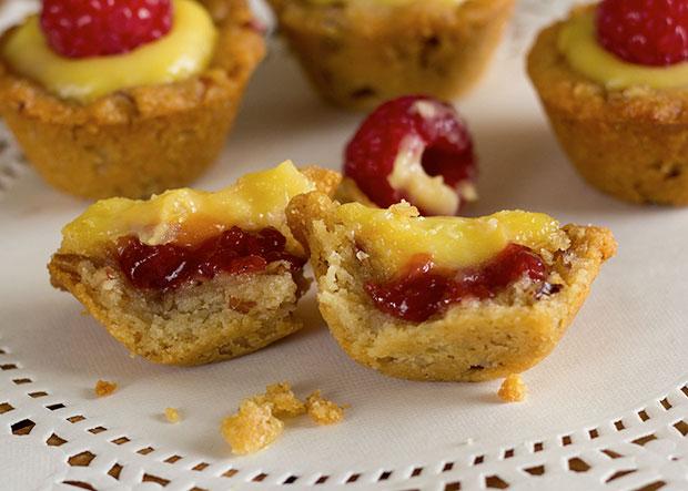 Paleo Bite-size Lemon Raspberry Cups Treat Recipe