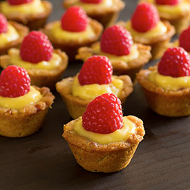 Bite-size Paleo Lemon Raspberry Cups Recipe