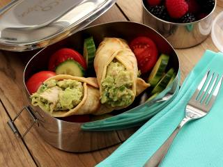 Paleo Tuna Avocado Tortilla Wraps