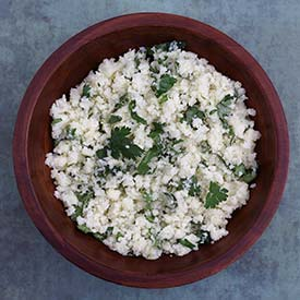 Paleo Cilantro Lime Cauliflower Rice Recipe