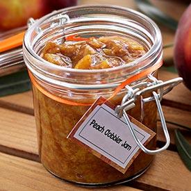 Paleo Peach Cobbler Jam