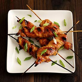 Paleo Bacon-Wrapped Chili Chicken Skewers Recipe