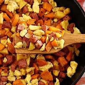 Ham, Apple & Sweet Potato Scramble Recipe
