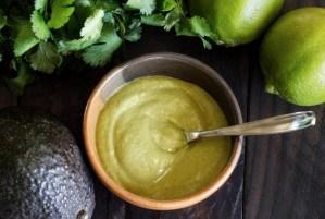 paleo sauce recipe for Cilantro-Lime-Avocado topping