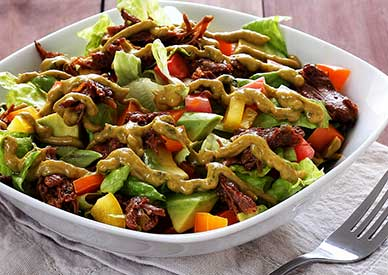 Spicy Shredded Beef Salad Recipe