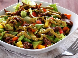 Spicy Shredded Beef Salad