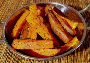 paleo recipe baked spicy sweet potato fries