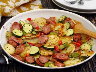 Italian Sausage & Potato Quick Skillet Meal