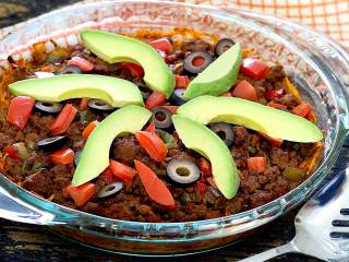 Paleo Taco Casserole with Sweet Potato Crust