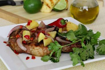 easy paleo pork chop dry rub and salsa